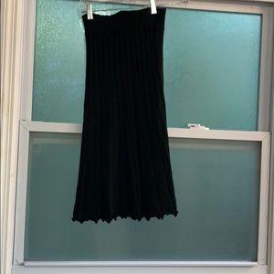 Wool midi skirt, pleated